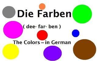 Die Farben - The Colors in German (German Start Mini Books Book 1) Elaina McGuire