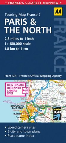 Touring Map Paris & the North A.A. Publishing