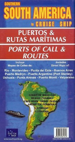 Southern South America  by  Cruise Ship Map by South World Maps