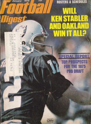 January 1975 FOOTBALL DIGEST - Oakland Raiders Ken Stabler  Cover - NFL Various