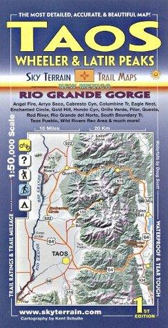 Taos Wheeler & Latir Peaks Trail Map  by  Kent Schulte