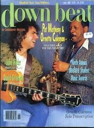 1986 down beat Magazine - Pat Metheny / Ornette Coleman Cover Various
