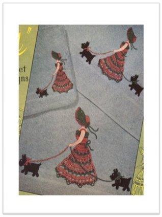 #2380 WALKING GILLIAN VINTAGE CROCHET PATTERN Princess of Patterns