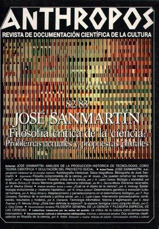 José Sanmartín. Filosofía crítica de la ciencia. Problemas actuales y propuestas plurales VV.AA.