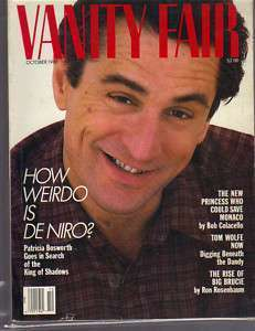 1987 VANITY FAIR MAGAZINE - Robert De Niro Cover  by  Various