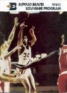 1972-73 Buffalo Braves NBA Game Program Various