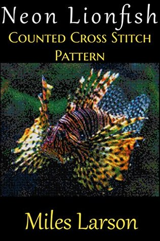 Neon Lionfish Counted Cross Stitch Pattern  by  Miles Larson