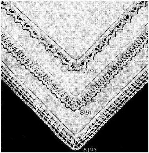 #1393 HANDKERCHIEF EDGING VINTAGE CROCHET PATTERN Princess of Patterns