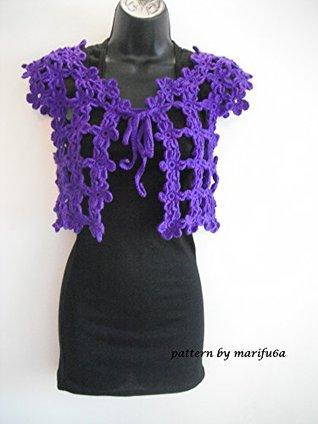crochet pattern easy bolero shrug for beginners nr 18: crochet pattern easy bolero shrug for beginners nr 18 marifu6a