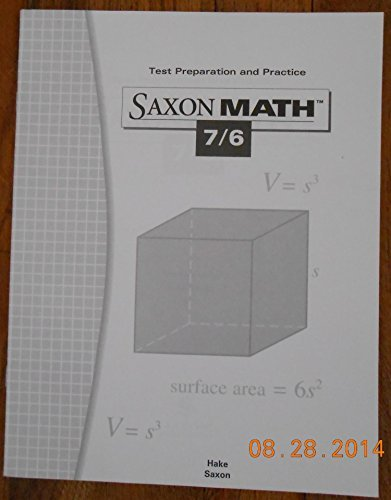 Saxon Math Test Preparation and Practice 7/6 (Saxon Math 7/6) Hake