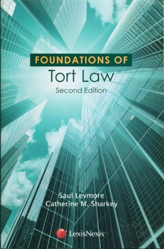 Foundations of Tort Law Saul Levmore
