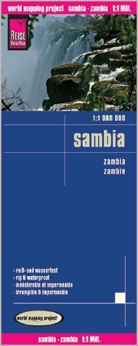 Zambia 1:1,000,000 Travel Map, waterproof, GPS compatible REISE, 2012 edition Reise Knowhow