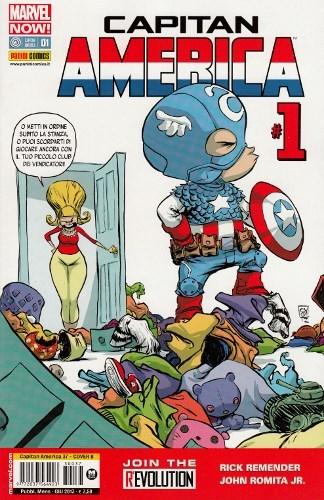 Capitan America #37 (Capitan America #1 Marvel Now!)  by  Rick Remender