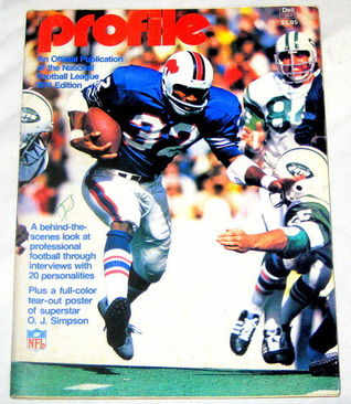 1974 NFL PROFILE ANNUAL-O.J. SIMPSON/BUFFALO BILLS COVER  by  Various