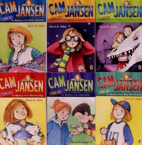 Cam Jansen 6 Book Set (Mystery of the UFO, Mystery of the Monster Movie, Ghostly Mystery, First Day  by  David A. Adler