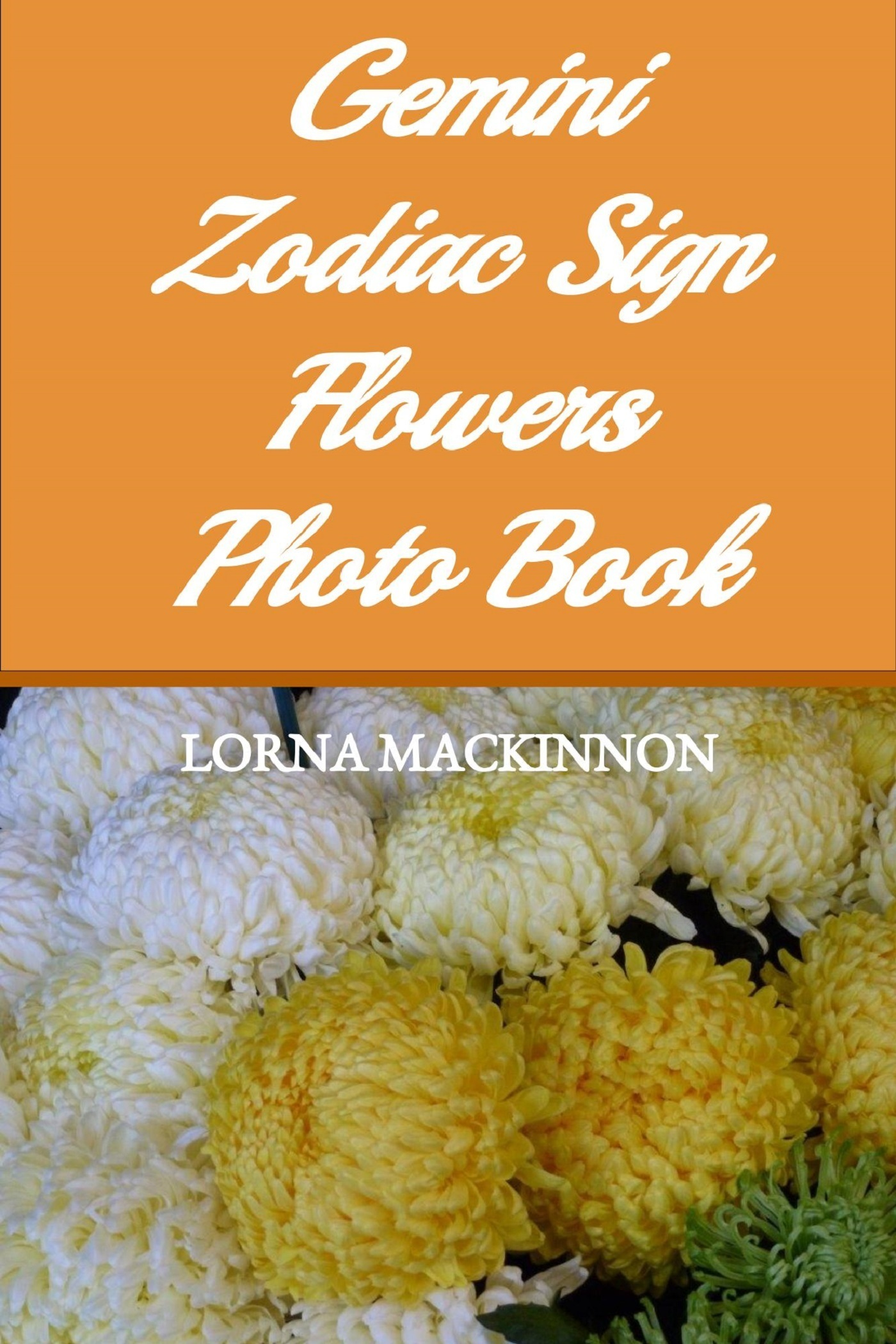Gemini Zodiac Sign Flowers Photo Book Lorna Mackinnon