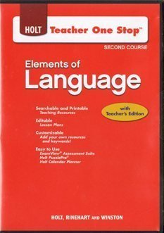 2009 Holt Element of Language Course Two Teacher One Stop CD ROM  by  Various
