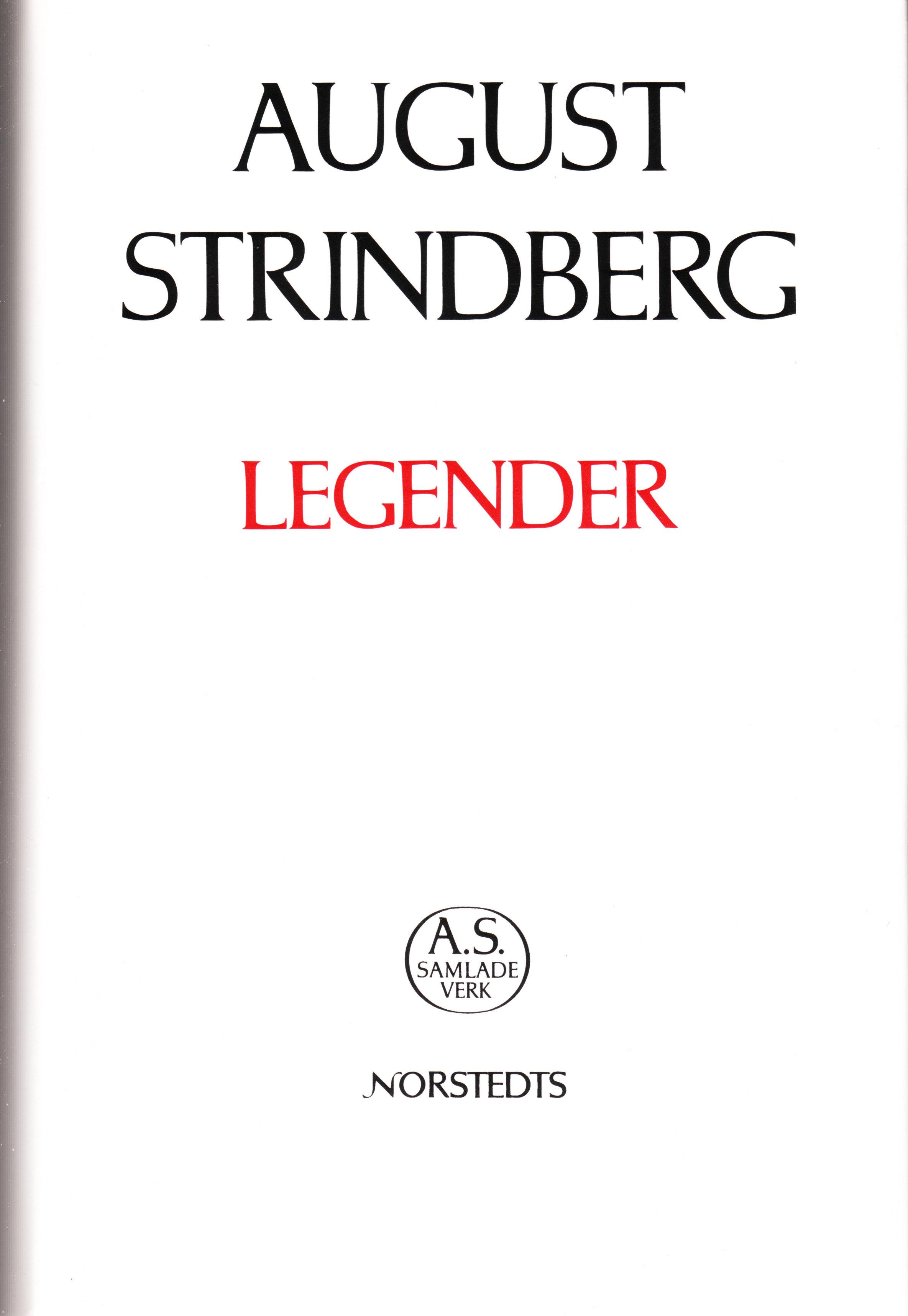 Legender  by  August Strindberg