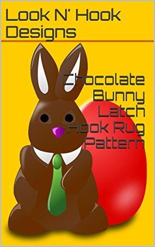 Chocolate Bunny Latch Hook Rug Pattern  by  Look N Hook Designs