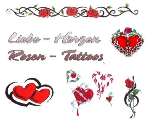 Liebe - Herzen - Rosen Tattoo Vorlagen  by  Tattoo-Stars