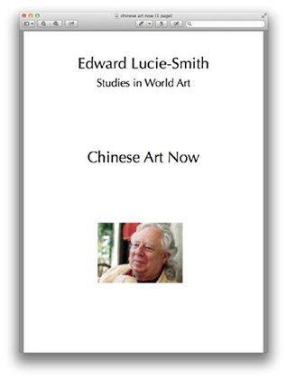 Chinese Art Now (Studies in World Art Book 20)  by  Edward Lucie-Smith