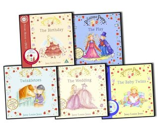 Janey Louise Jones Princess Poppy 5 Books & DVD/CD Collection Pack Set RRP: £27.95 (The Birthday Book and DVD, The Play, Twinkletoes, The Wedding , The Baby Twins)  by  Janey Louise Jones