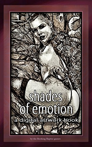 shades of emotion: a digital artwork book the Rocking Raptor books
