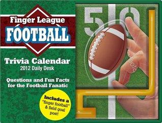 2012 Football Finger Sports Daily Desk #11510 Orange Circle Studio