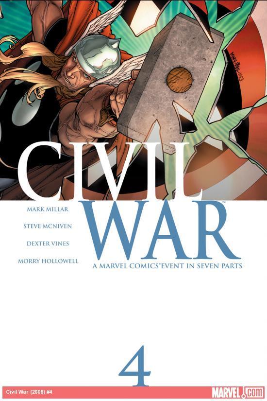 Civil War (2006) #4 Mark Millar