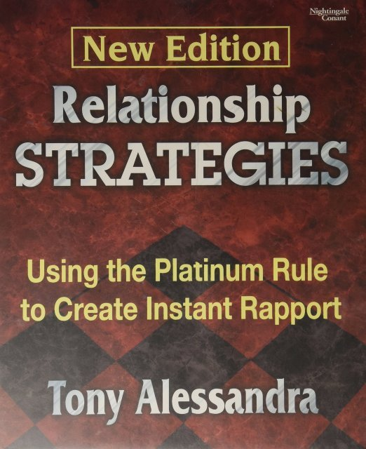 New Relationship Strategies Anthony J. Alessandra
