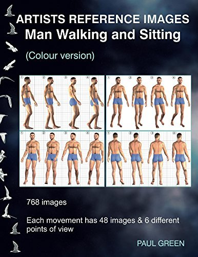 Artists Reference Images - Man Walking and Sitting  by  Paul Green