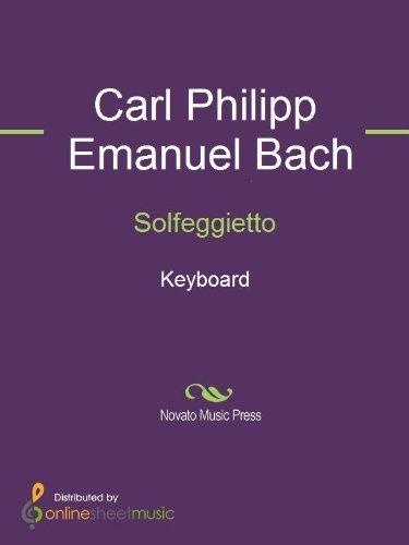 Solfeggietto - Keyboard C.P.E. Bach
