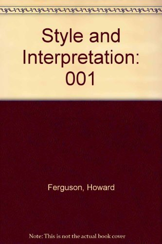 Style and Interpretation: An Anthology of Keyboard Music : England and France  by  Howard Ferguson