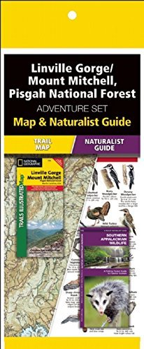 Linville Gorge/Mount Mitchell, Pisgah National Forest Adventure Set National Geographic Maps