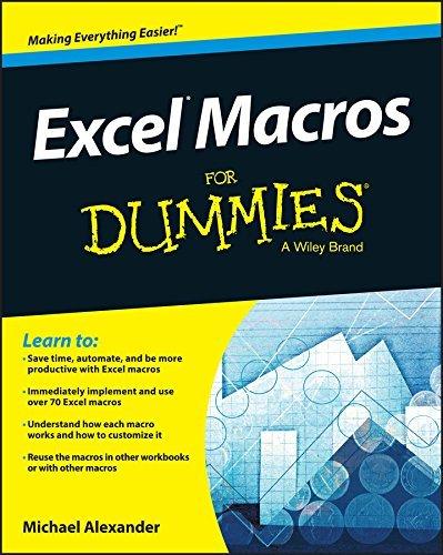 Excel Macros For Dummies Michael Alexander
