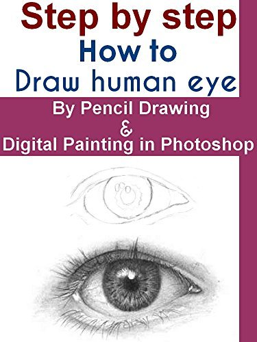 Step step: How to draw human eye With pencil Drawing and Digital Painting in Photoshop by rames hawn