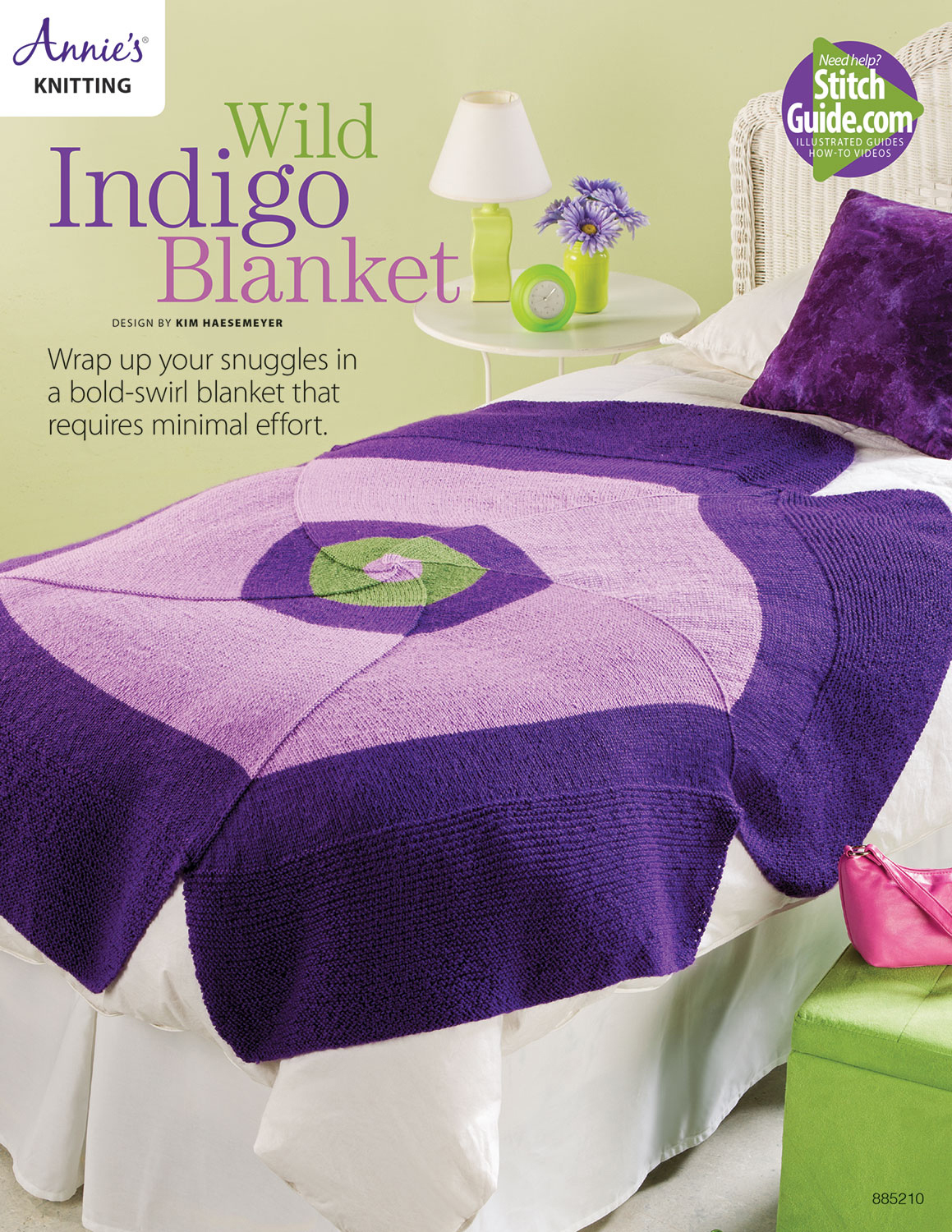 Wild Indigo Blanket Knit Pattern  by  Annies