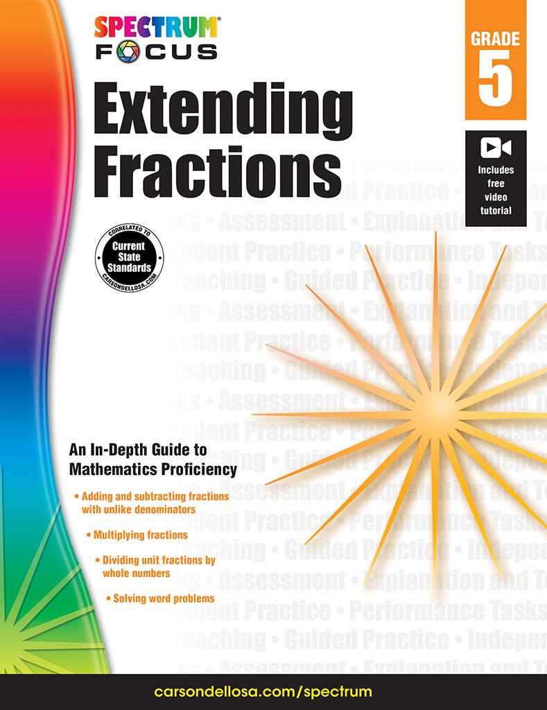 Spectrum Extending Fractions, Grade 5  by  Spectrum