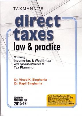 Direct Taxes Law and Practice K. Vinod Singhania