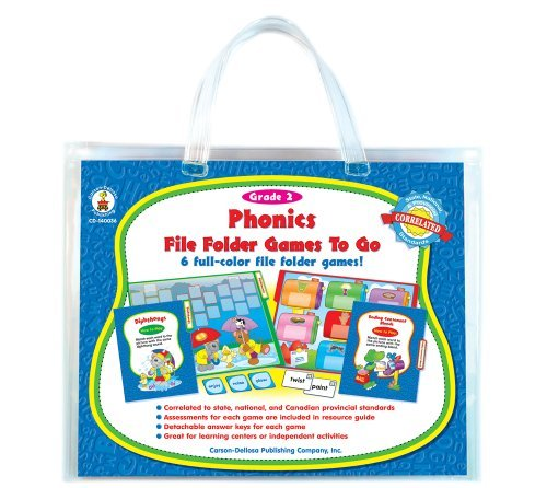 Phonics File Folder Games to Go®, Grade 2 Carson-Dellosa Publishing