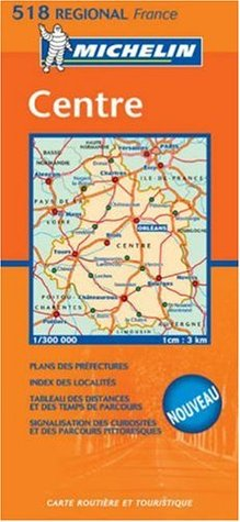 Michelin France Centre Map #518 Regional Michelin