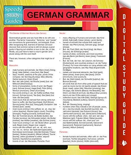 German Grammar Speedy Publishing
