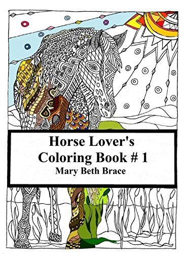 Horse Lovers Coloring Book #1 Mary Beth Brace