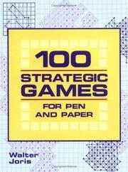 100 Strategic Games for Pen and Paper Walter Joris