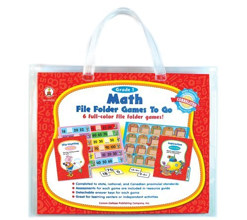 Math File Folder Games to Go®, Grade 1  by  Carson-Dellosa Publishing