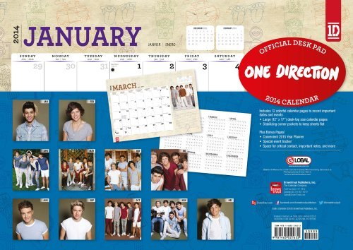 One Direction 2014 Desk Pad  by  NOT A BOOK