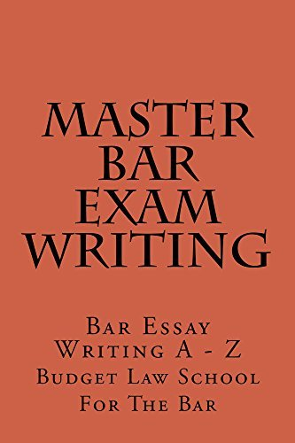 Master Bar Exam Writing * e law book: Look Inside!!! Budget Law School For the Bar