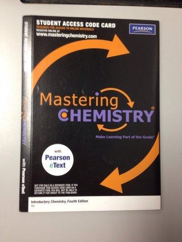 Mastering Chemistry Access Code  by  Nivaldo J. Tro