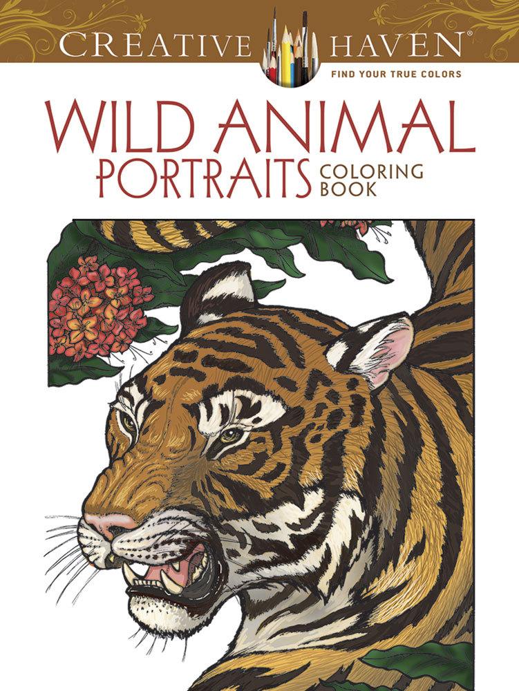 Creative Haven Wild Animal Portraits Coloring Book Llyn Hunter