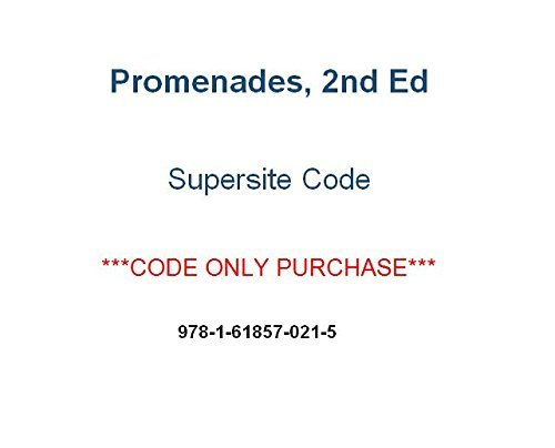 Promenades 2nd Ed Supersite Code ***Supersite Code Only***  by  vhl